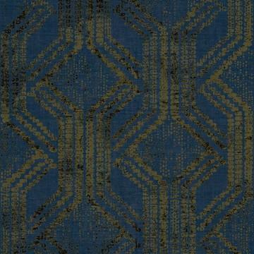 Zero sötétkék-arany mintás tapéta 9727